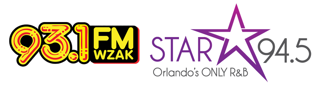 93.1 FM WZAK and STAR 94.5 Orlando Logos