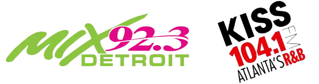 MIX 92.3 Detroit and KISS 104.1 FM Atlanta Logos